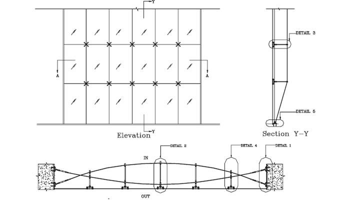 Frameless Cable Truss Facade Systems Frameless Glass