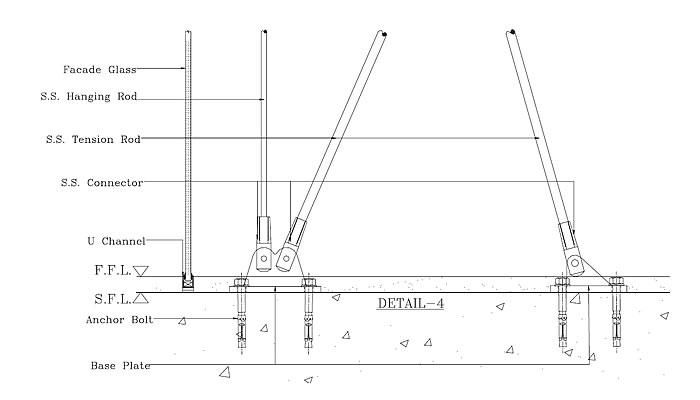 frameless tension rod system detail 3 frameless